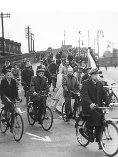 Cyclists - Ford End Road 1950s